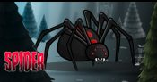 Giant Black Widow Spider Game Sprites