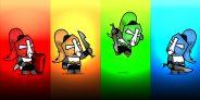 Chibi Crusader Knight 2D Game Sprite