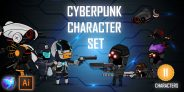 Cyberpunk Character Sprites Set